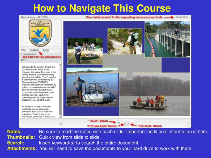 how to navigate this course n.