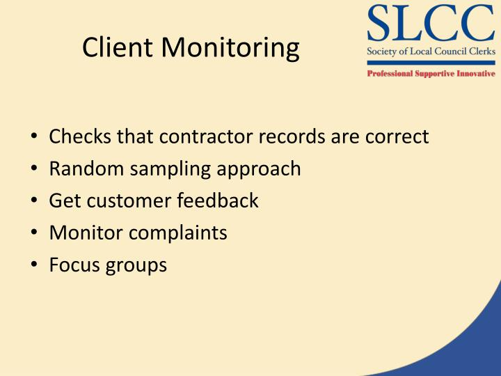 Client Monitoring