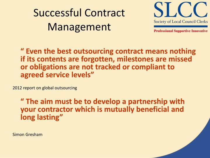 Successful Contract Management