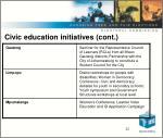 civic education initiatives cont