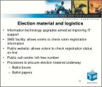 election material and logistics