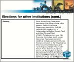 elections for other institutions cont