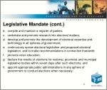 legislative mandate cont