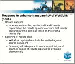 measures to enhance transparency of elections cont1