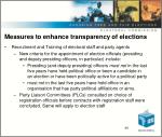 measures to enhance transparency of elections