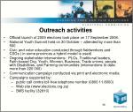 outreach activities
