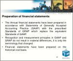 preparation of financial statements