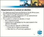requirements to contest an election
