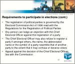requirements to participate in elections cont