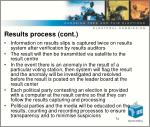 results process cont