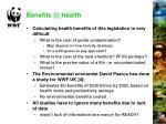 benefits i health