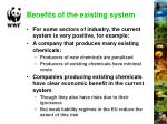 benefits of the existing system