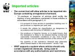 imported articles