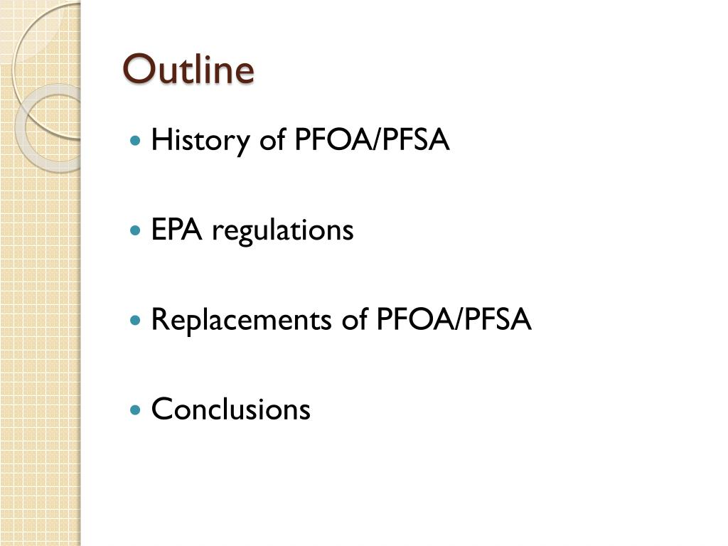 PPT - PFOA/PFSA overview and regulations PowerPoint
