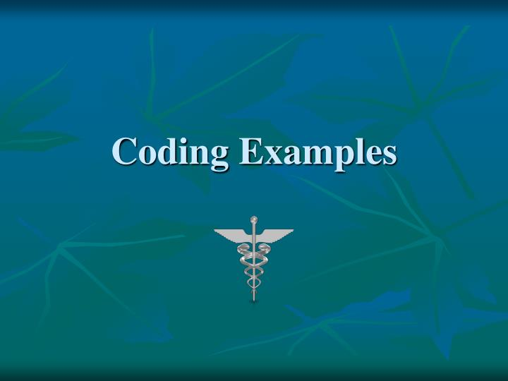Coding Examples
