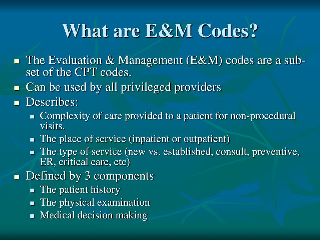e&m codes for new patients