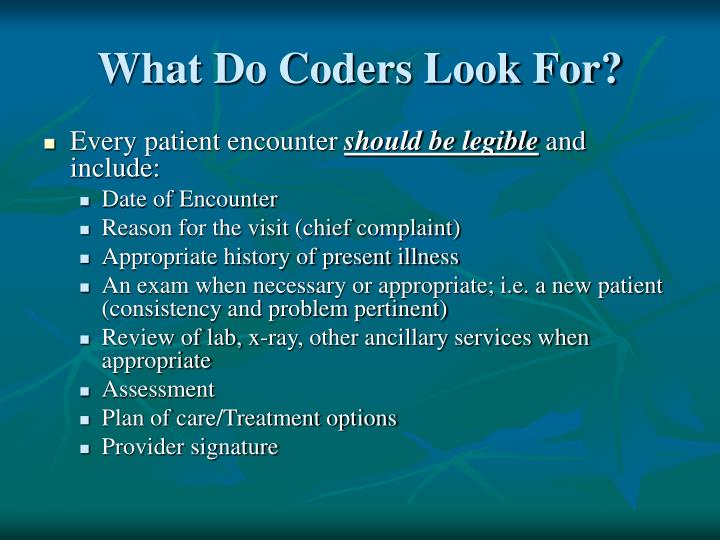 What Do Coders Look For?