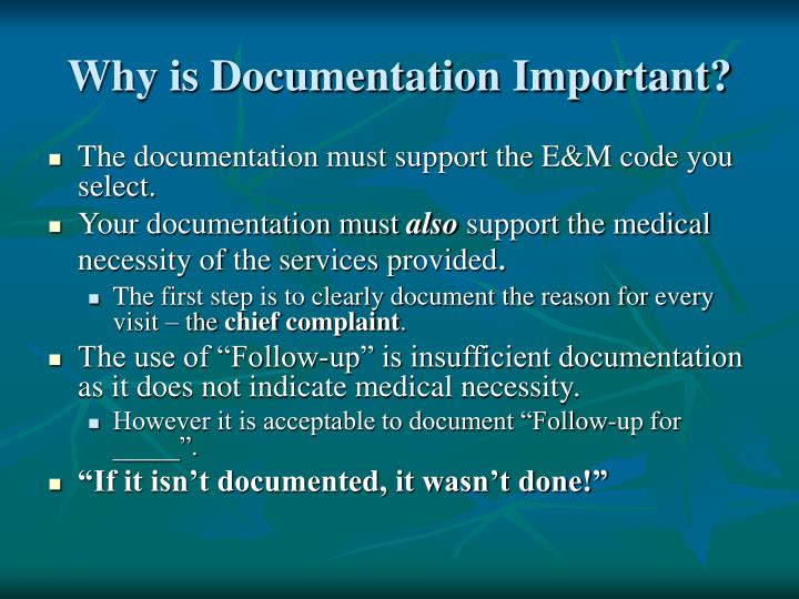 Why is Documentation Important?