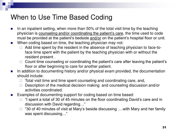When to Use Time Based Coding