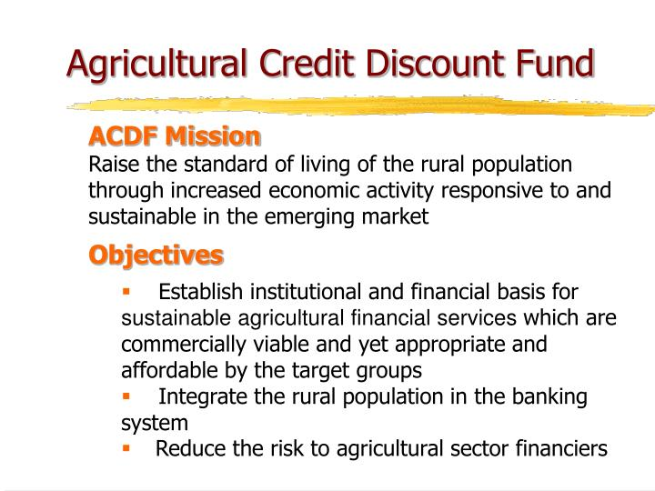 Agricultural Credit Discount Fund