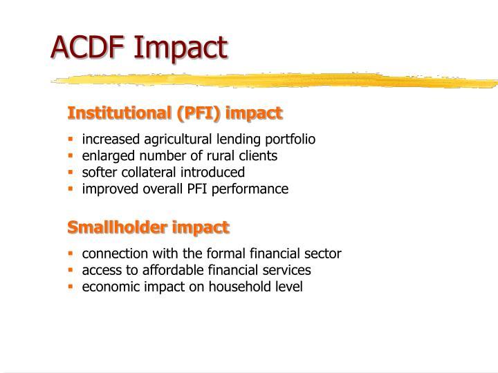 ACDF Impact