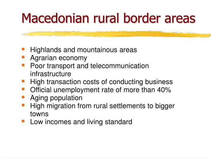 Macedonian rural border areas