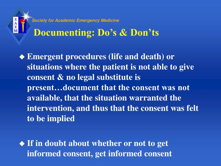 Documenting: Do's & Don'ts