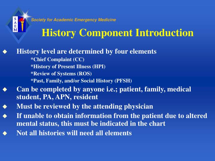 History Component Introduction