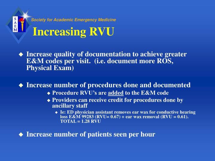 Increasing RVU