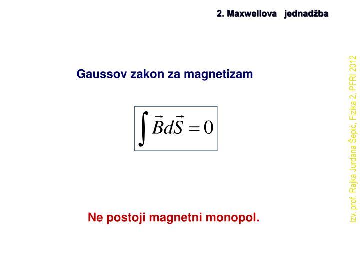 2. Maxwellova   jednadžba