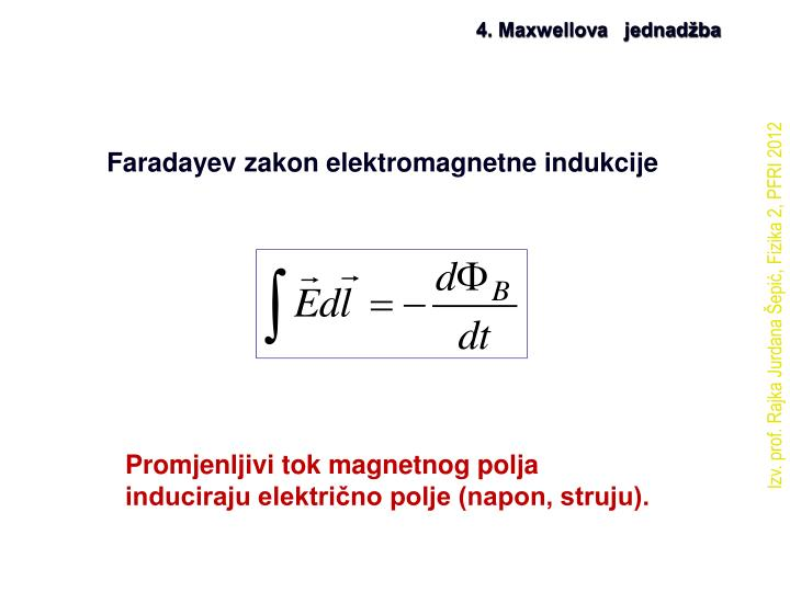 4. Maxwellova   jednadžba