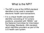 what is the npi