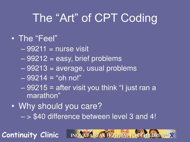 "The ""Art"" of CPT Coding"