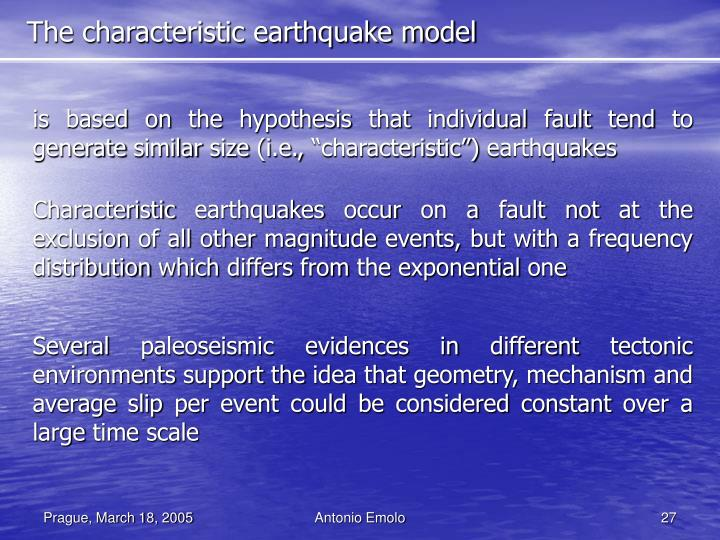 The characteristic earthquake model