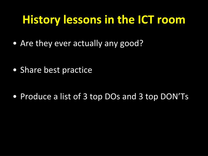 Innovative Classroom Practices Using Ict In England : Ppt using ict in the history classroom powerpoint
