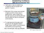 establishing confidence with environmental test