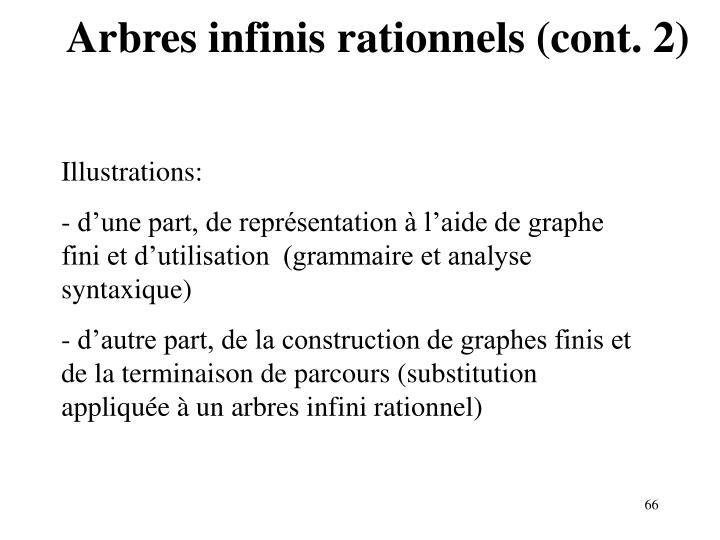 Arbres infinis rationnels (cont. 2)