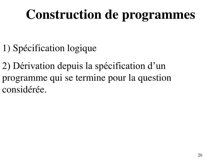Construction de programmes