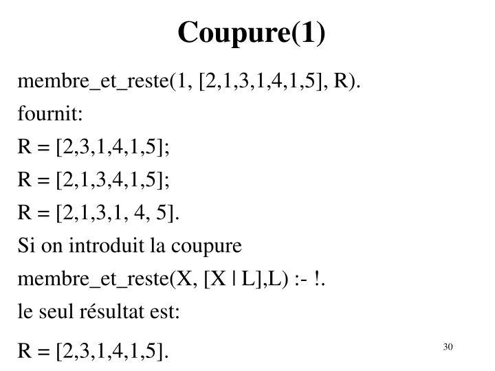 Coupure(1)