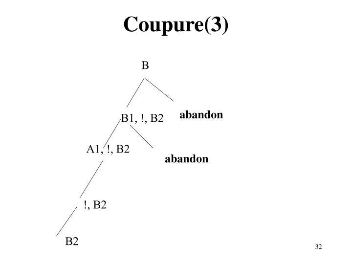 Coupure(3)