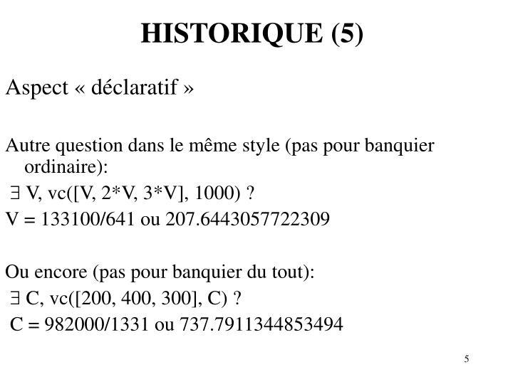 HISTORIQUE (5)