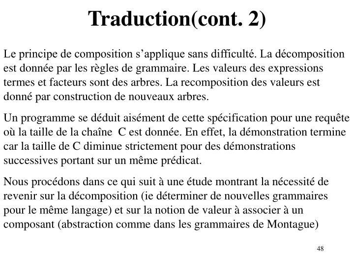Traduction(cont. 2)