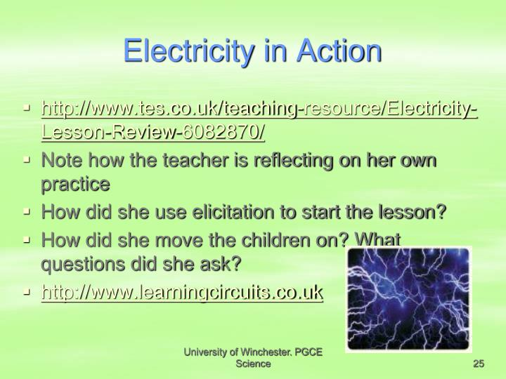 Electricity in Action