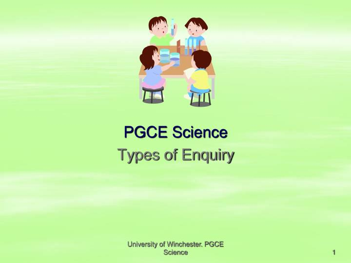 Pgce science types of enquiry