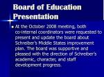 board of education presentation