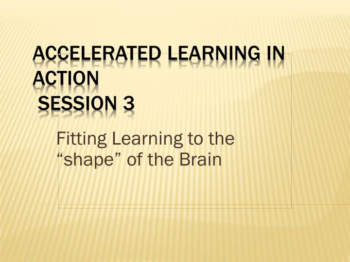 """Fitting Learning to the """"shape"""" of the Brain"""