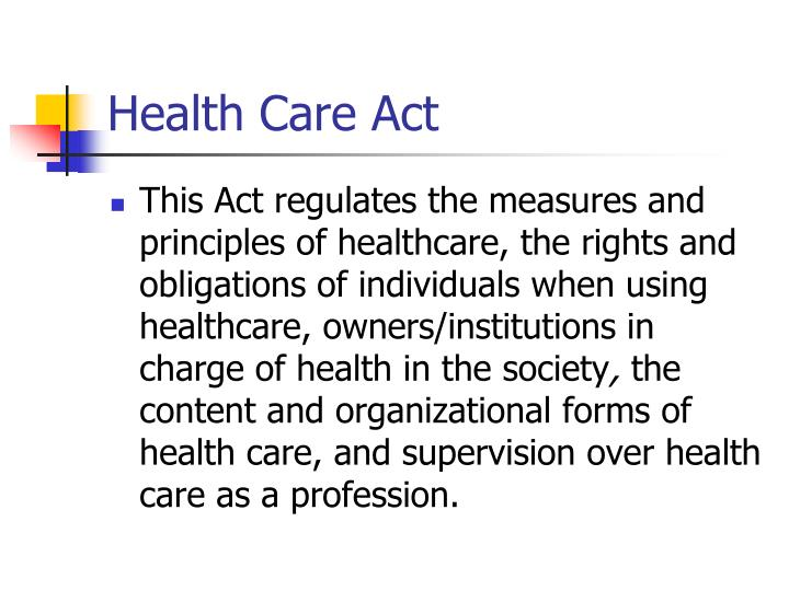 Health Care Act