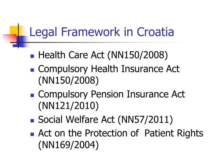 Legal Framework in Croatia