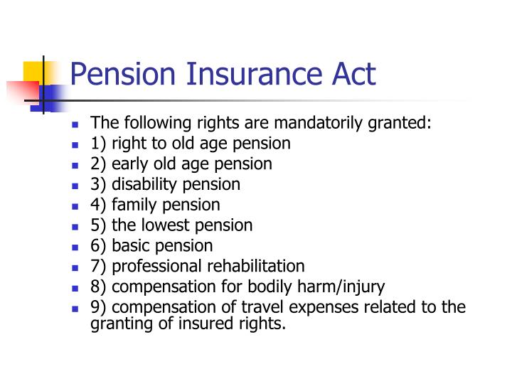 Pension Insurance Act