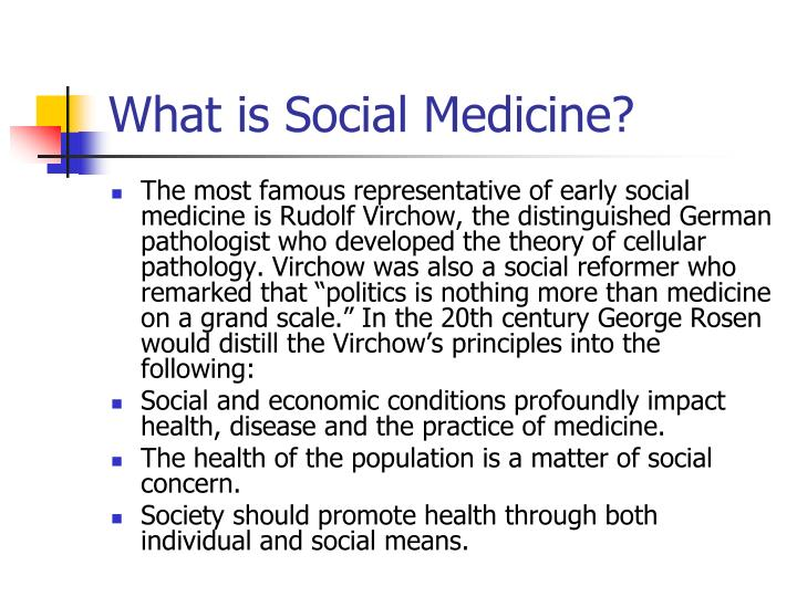 What is social medicine1